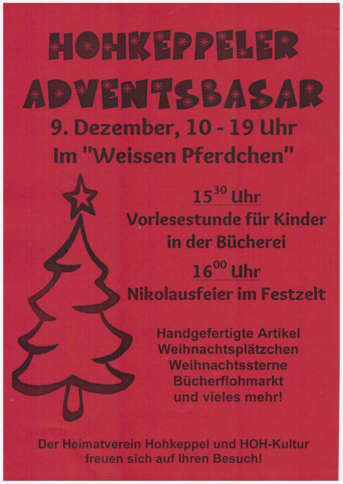 Plakat Adventsbasar